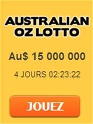 OZ Lotto Gagnez jusqu'à 15 millions de dollars australiens